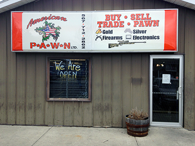 American Pawn signage