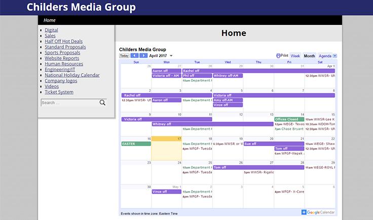 Childers Media Group Portal