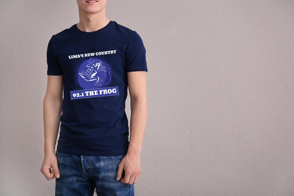 92.1 The Frog t-shirt design