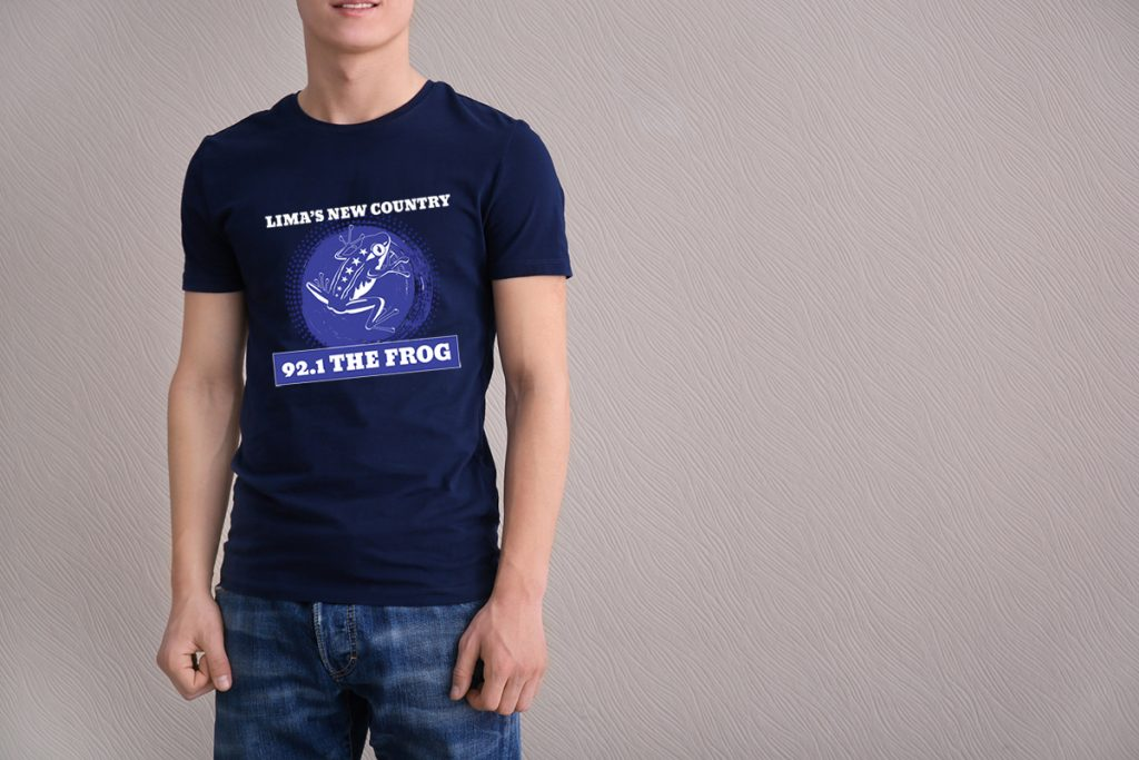 92.1 The Frog t-shirt design